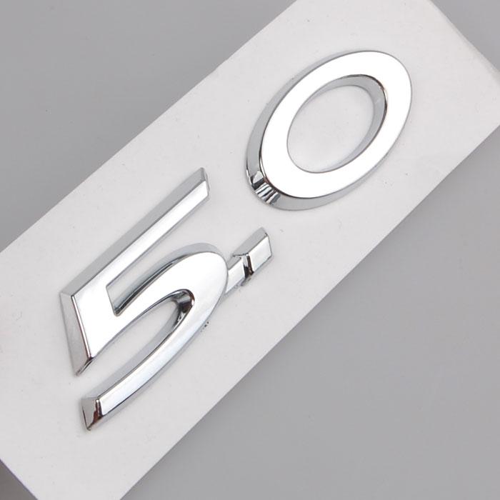 Auto Chrome 5,0 trasero delantero coche Boby emblema insignia pegatina para Jaguar XJL XJ XF Car Styling