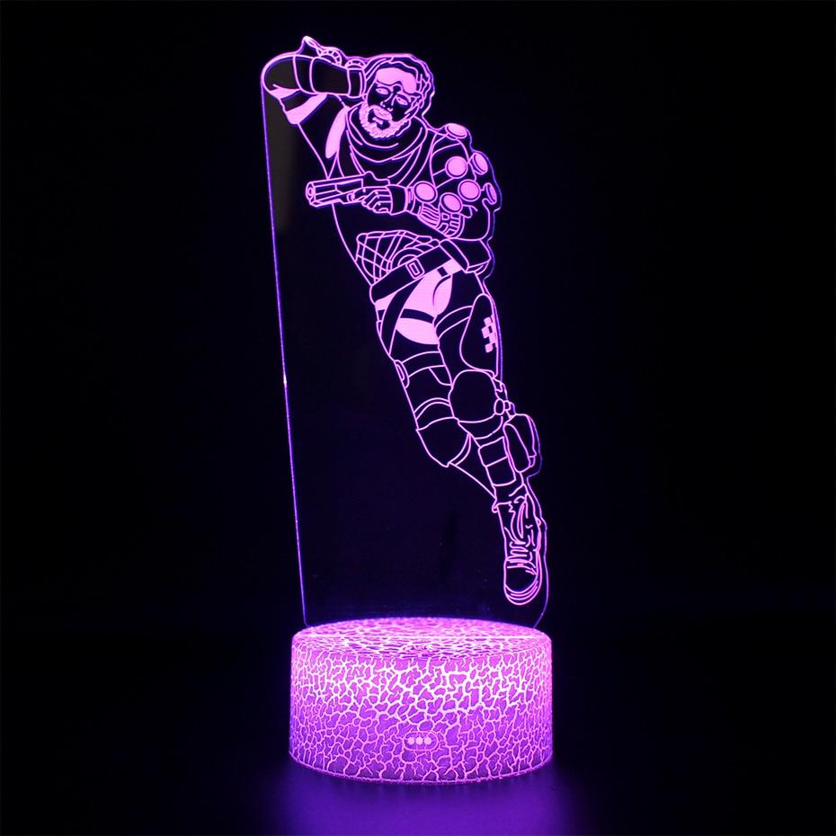 3d Table Lamp Battle Royale APEX Figure Skin Lamp Remote Control Led Night Light Illusion APEX Legends USB Nightlight