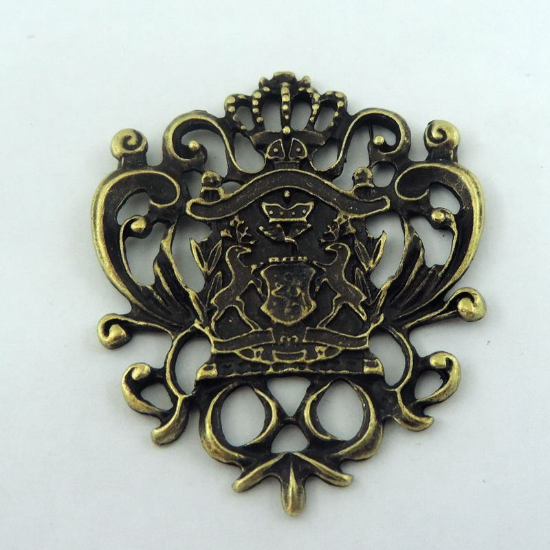 Estilo europeu 4 pçs bronze antigo tom liga de zinco feito exclusivo projetado emblema encantos colar fazer jóias pingente encontrar