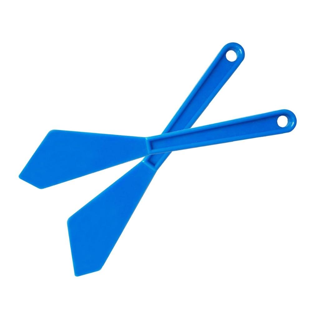 6PCS Vinyl Film Wrap Corner Squeegee With Long Handle Blue Plastic Sharp Scraper Old Glue Snow Clean Car Window Tint Tools 6A06