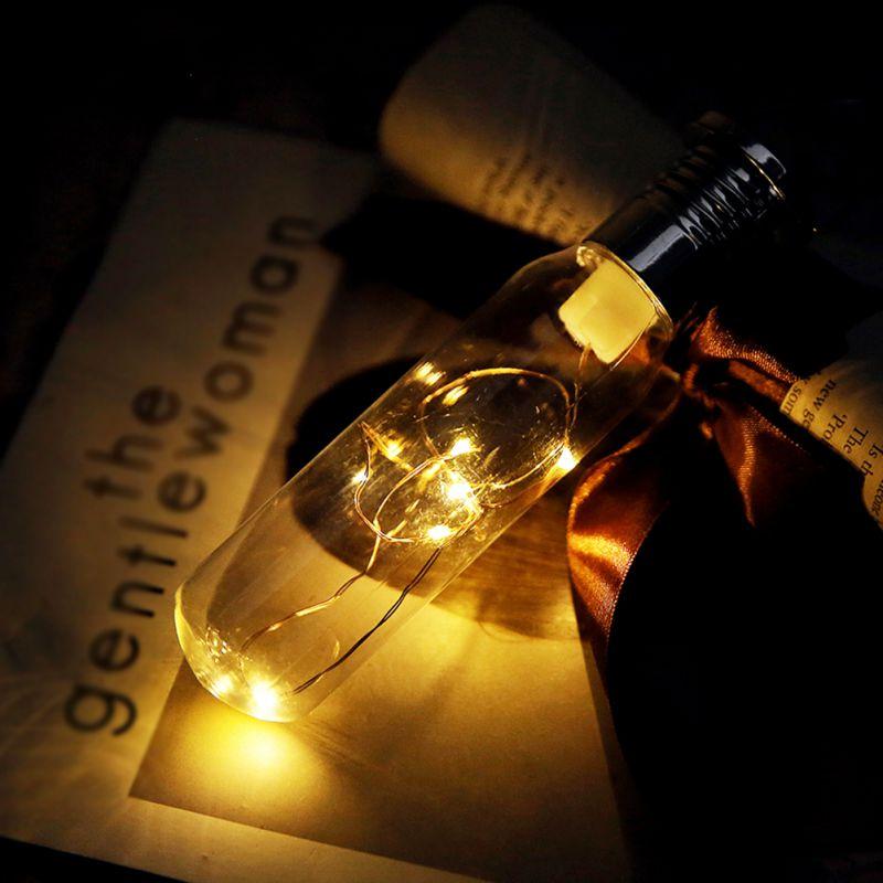 Solar Powered Bottle Novelty Light LED Modeling Lights Christmas Tree Decoration Lights Hanging Lights
