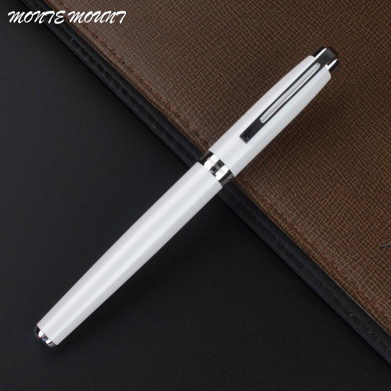 Монте крепление 723 роликовая шариковая ручка, белая ручка с серебряным зажимом, принадлежности для письма