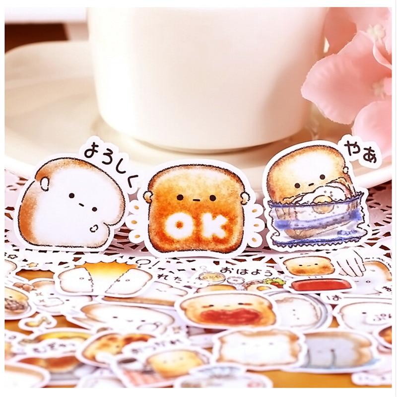 40pcs Creative Cute Self-made Bread Story/ food Scrapbooking Stickers /Decorative Sticker /DIY Craft Photo Albums kawaii