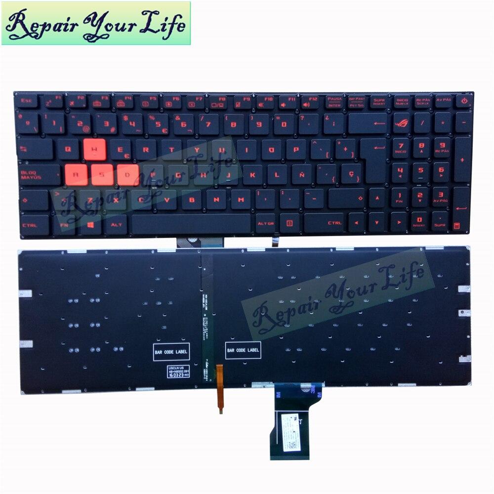 إصلاح لك الحياة لوحة مفاتيح الكمبيوتر المحمول ل Asus GL502 GL502V GL502VM GL502VT GL502VY إسبانيا SP لوحة المفاتيح مع الخلفية جديد الأصلي