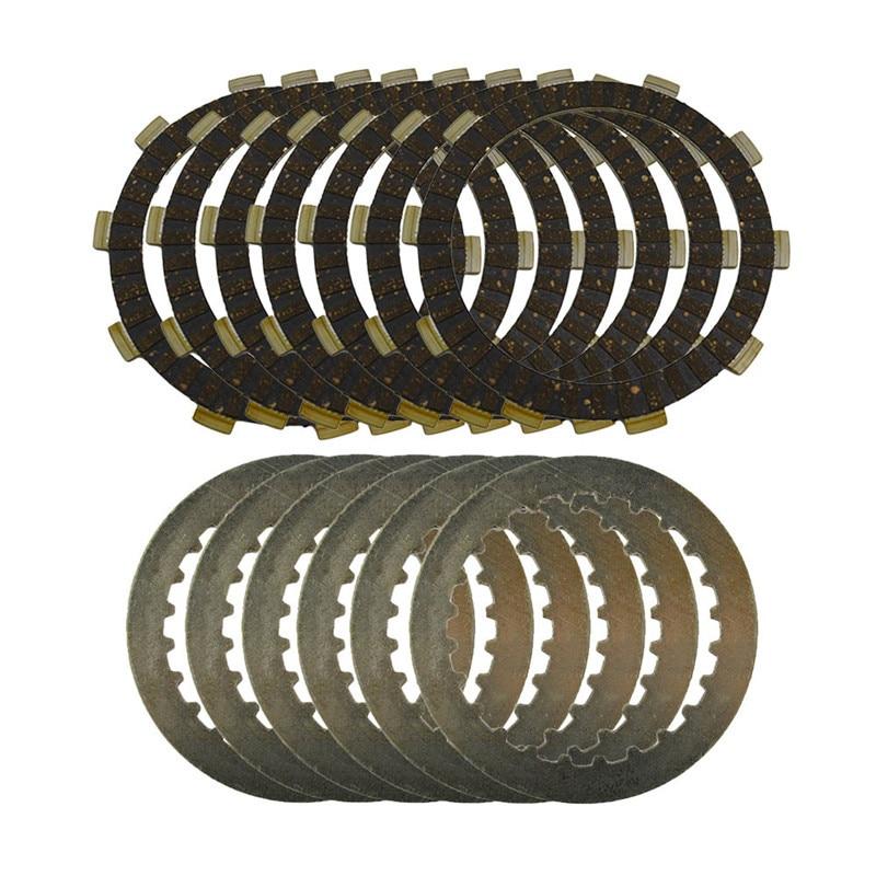 Um conjunto de placas de aço & discos de embreagem discos de fricção para suzuki djebel250 1997-2008