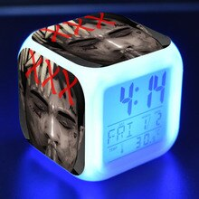 XXXTentacion Figurine Juguetes LED Alarm Clock Colorful Changing Touch Light Flashing Toys