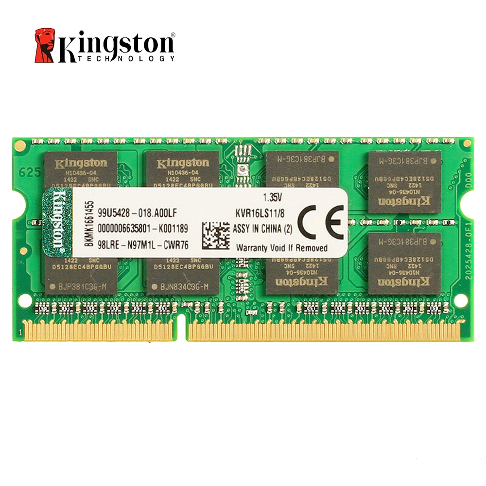 Kingston-memoria Ram DDR3L para portátil, 8 GB, 1600Mhz, DDR3, 8 GB, SO-DIMM...