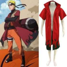 Anime Naruto Cosplay - Individual Naruto Uzumaki Naruto 6th Hokage Men's Cosplay Costume - Freeshipping