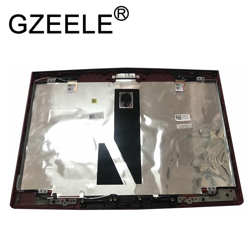 حافظة لابتوب GZEELE جديدة لأجهزة الكمبيوتر المحمول Dell Alienware M14X R1 M14X R2 مقاس 14 بوصة باللون الأسود شاشة LCD خلفية W6R48 0W6R48 أحمر CNT97 0CNT97 أسود