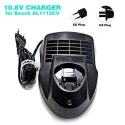 Сменное зарядное устройство AL1115CV для Bosch, литий-ионная батарея 10,8 В BAT411, BAT412A, 2 607 336 996, вилка стандарта США/ЕС