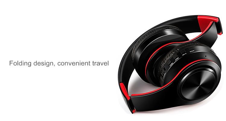 Słuchawki Bluetooth Headset słuchawki Bezprzewodowe Słuchawki Stereo Składany Sport Słuchawki Mikrofon słuchawki Tryb Głośnomówiący odtwarzacz MP3 6