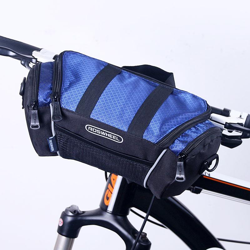 ROSWHEEL Mountain Bike Handlebar Bag Cycling Front Frame Basket Storage Phone Bycicle Bag Bolsa Bicicleta