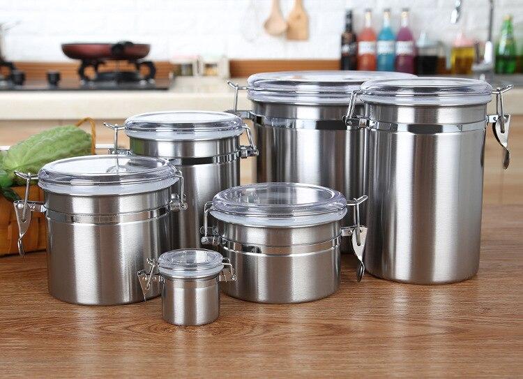 1 frasco de acero inoxidable de 4000 ml, frasco sellado para muestras de alimentos, tarro de cocina o cafetería para almacenamiento de azúcar y té, Bol para el almuerzo JO 1068