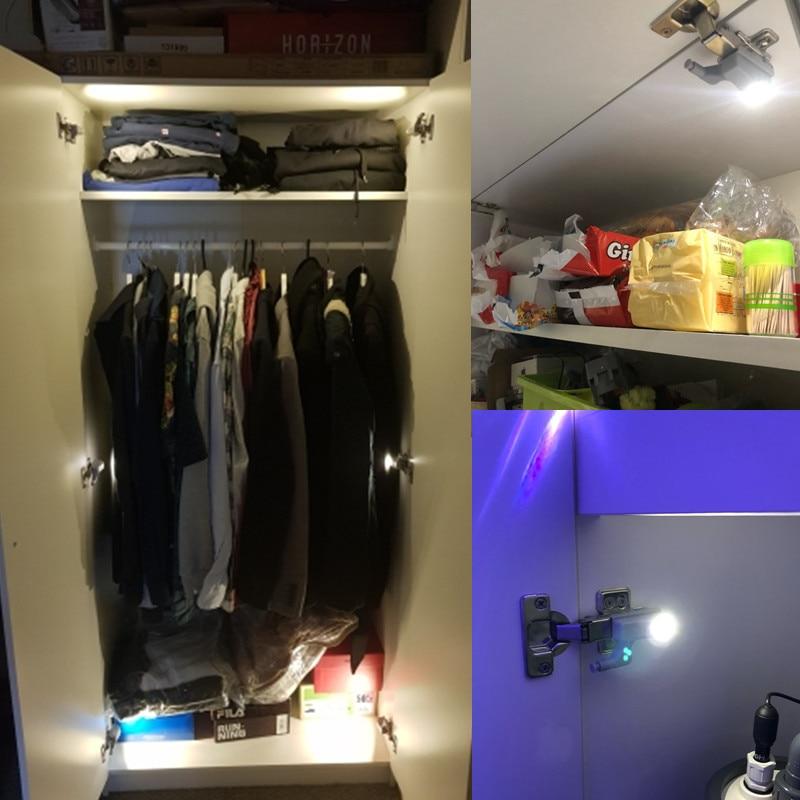 Купить с кэшбэком 10Pcs LED Smart Touch Induction Cabinet Light Cupboard Inner Hinge Lamp Sensor Light Night Light for Closet Wardrobe