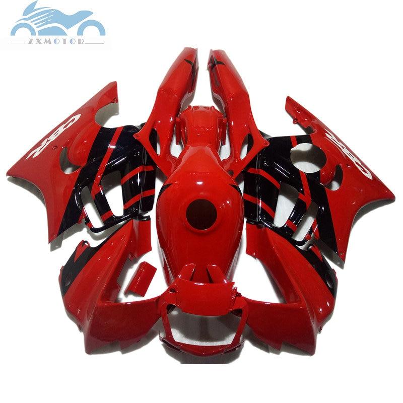 الشحن مخصص قطع الغيار للدرجة النارية لهوندا CBR 600 F3 fairings 1997 1998 CBR600F3 97 98 الأسود الأحمر CBR600F الطريق الهدايا المجمعة O2