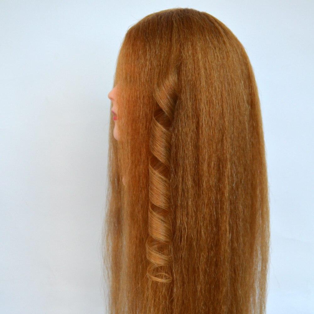 60cm comprimento do cabelo 95% real natural cabelo cabeça profissional cabeleireiro bonecas cabeça manequim