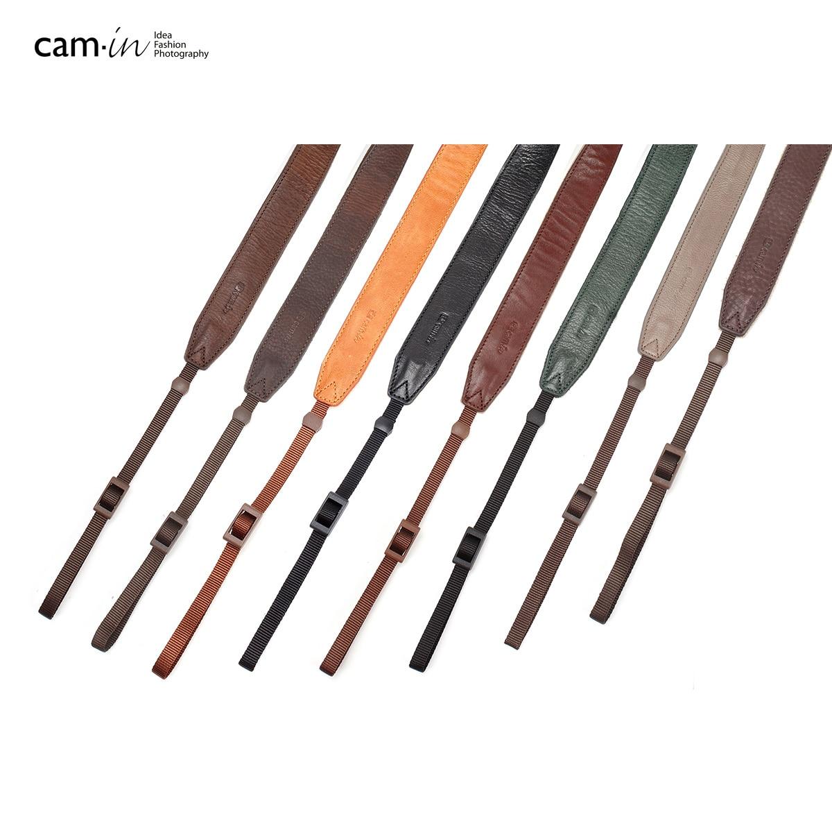 cam-in   CS187 Adjustable Universal Leather Camera Shoulder Neck Strap for SLR DSLR Cameras