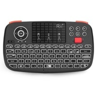 Мини-Клавиатура Rii i4, Bluetooth 2,4G, двойной режим, ручной гриф, мышь с подсветкой тачпад, удаленное управление для ПК и Android