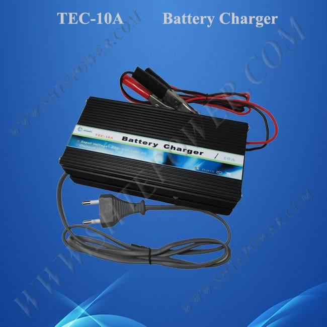 Cargador de batería de plomo ácido y Gel para coche 12V 10A cargador de alta frecuencia 220v 230v a 12v 10A cargador de batería