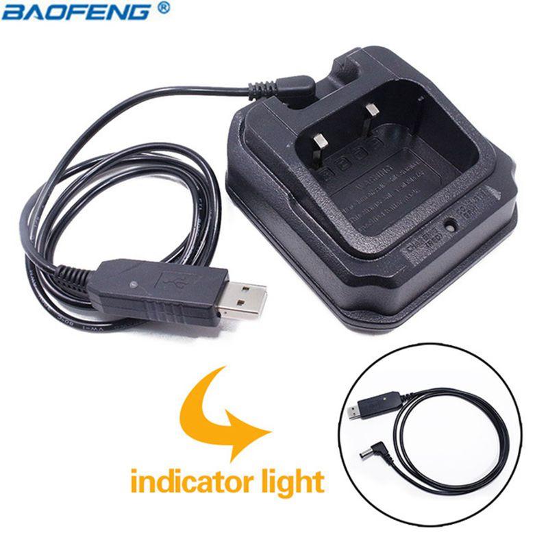 De Baofeng UV-9R Base USB cargador de batería Walkie Talkie CE FCC barato UV-XR A-58 UV-9R más GT-3WP UV-5S UV9R UVXR