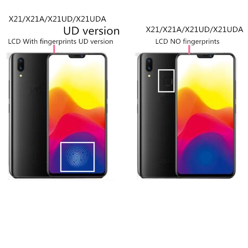 For vivo X21 X21A X21UD X21UDA LCD Display +Touch Screen Digitizer Glass Lens Assembly Replacement enlarge