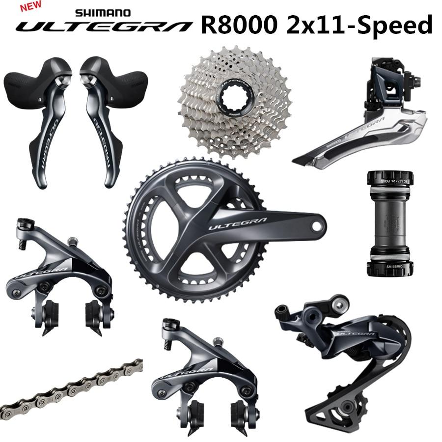 SHIMANO Groupset ULTEGRA R8000 R8000 Desviadores Bicicleta Da ESTRADA 50-34 52-36 53-39T 165 170 172.5 175 MILÍMETROS 11-25 11-28 11-32T 6800
