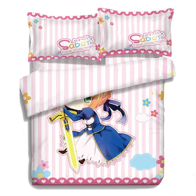 Hobby Express Chibi Saber-Fate Stay Night funda de cama o edredón de Anime japonés con dos fundas de almohada ADP-CP151213