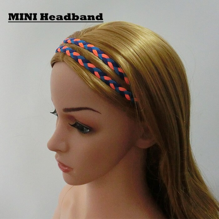 2017 new arrival DHL express shipping fee Mix Colors 3-rope triple Braided headband mini Stretch Softball Sports Headbands