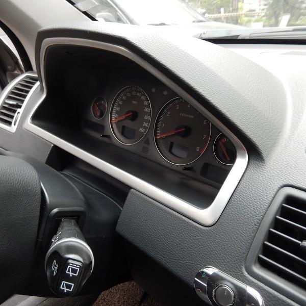 Edelstahl innen dashboard konsole panel rahmen abdeckung für Volvo XC90 2005 2006 2007 2008 2009 2010 2011 2012 2013 2014
