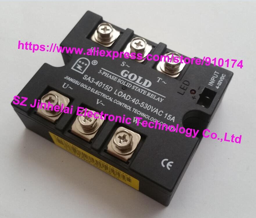 SA34015D (SA3-4015D) oro auténtico original SSR 3 fases DC control AC estado sólido relé 15A