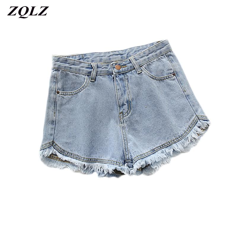 Spring Summer High Waisted Denim Shorts Women Fashion Tassel Vintage Sexy Club Harajuku Short Jeans Feminina Zipper Pocket Shot