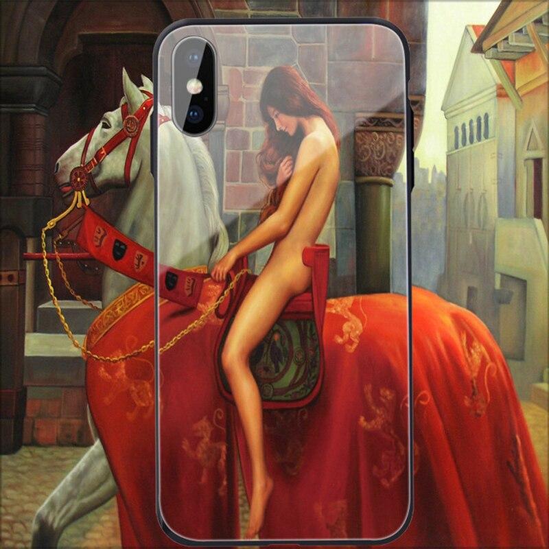 Funda de lujo para teléfono móvil para iPhone7/8 plus/XS/XR bolsa de teléfono de vidrio a prueba de caídas