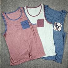 3 Pack Men's Urban Street wear Hip Hop Pocket Singlet Tank Top USA Size S-XL