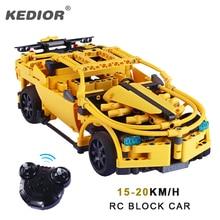 Haute vitesse télécommande voiture 30 mètres sport bricolage blocs de construction RC voitures pour enfants Compatible brique jouets voiture