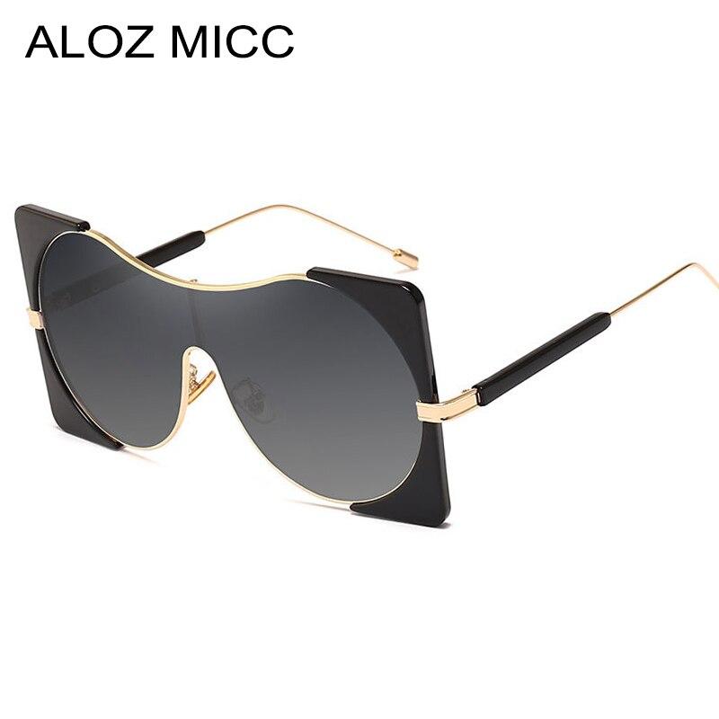 ALOZ MICC gafas de sol de moda para mujer para hombre, gafas de sol de lujo de gran tamaño para mujer, gafas Retro UV400 Oculos Q14