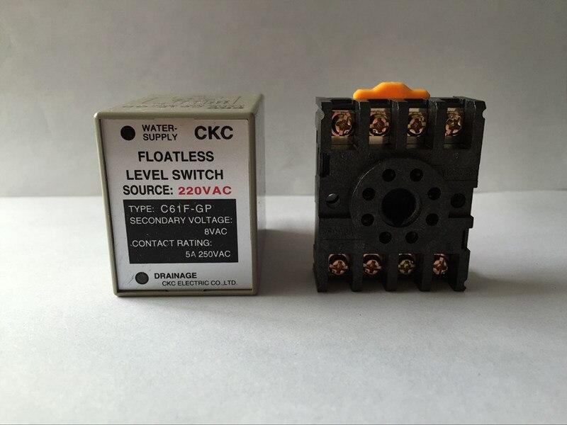 C61F-GP relé de nivel CA 220V c61f-gp controlador de nivel de agua interruptor de bomba cambia automáticamente con la base