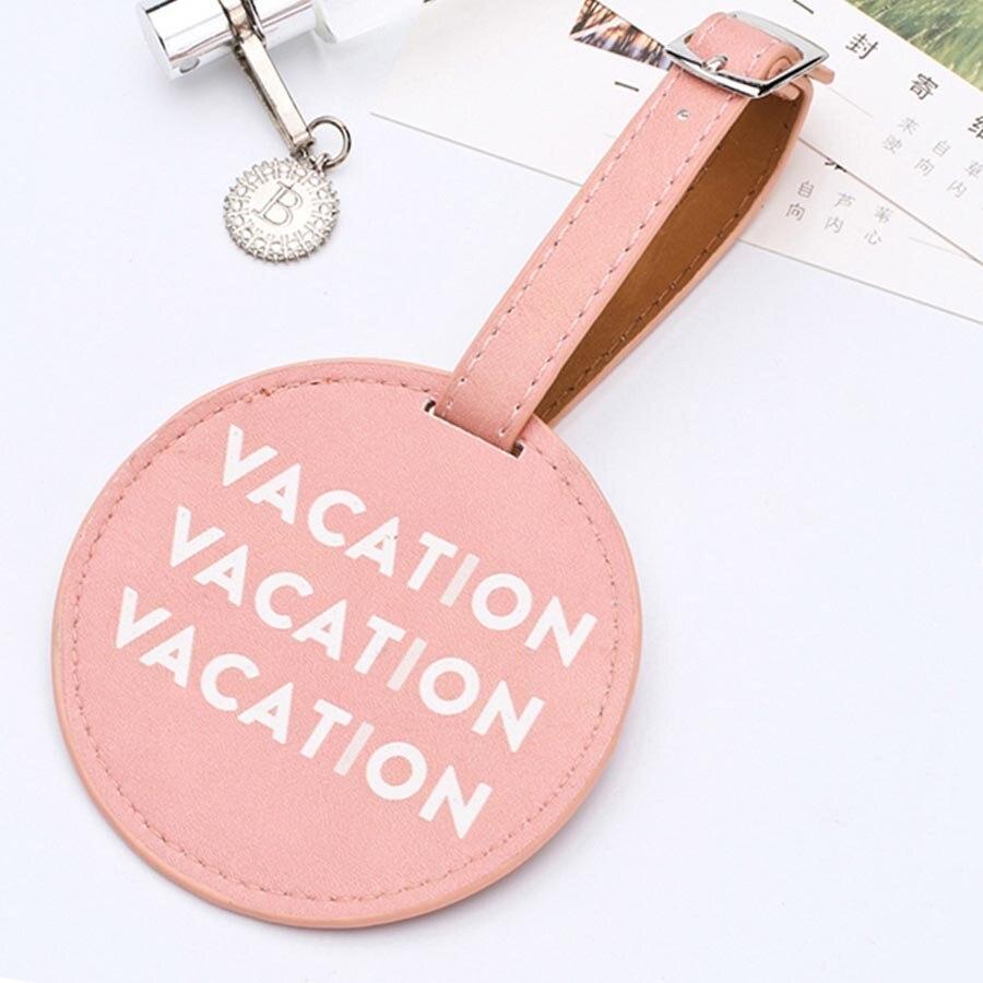 Персонализированные кожаные круглые чемоданчики Zoukane, этикетка на багаж, Сумка с подвеской, аксессуары для путешествий, идентификационные адреса, этикетки LT01A