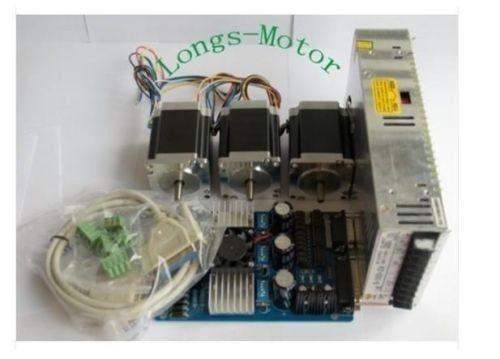 ¡Alta recomendar! 3 ejes Nema23 motor paso a paso de 290oz en 23HS8610 6 cables 76MM TB6560 Placa de controlador de fuente de alimentación Kit de enrutador de control numérico computerizado anhela