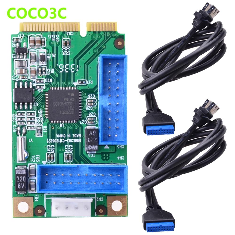 Mini PCIe-4 порта USB 3,0, карта mini PCI express для Dual 19Pin 20 Pin, 19 P, usb-разъем для 2 USB 3,0, spiltter кабель