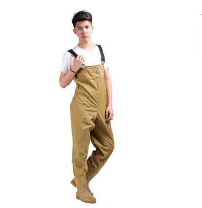 Pantalones de pesca transpirables Wader impermeable mosca botas de pesca Wader Wtocking pie wadschoenen respirant cuissarde peche
