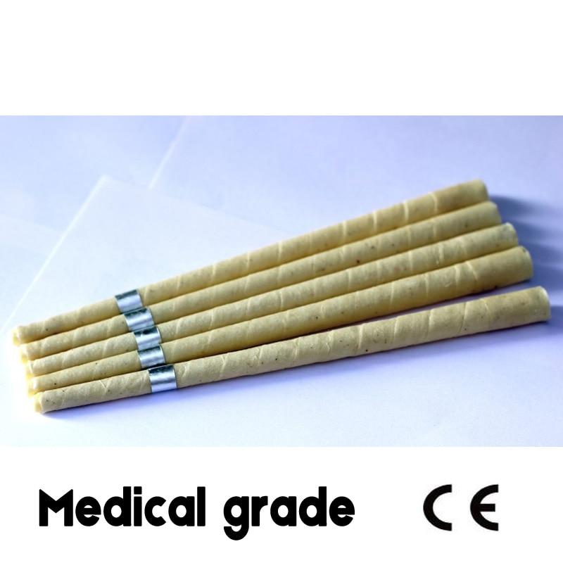 71 زوج/وحدة CE وافق الطبية الصف الدخان شحن الطبيعي beewax الأذن شمعة ، الأذن الصبح مخروط ، دون المبيدات بقايا + أقراص