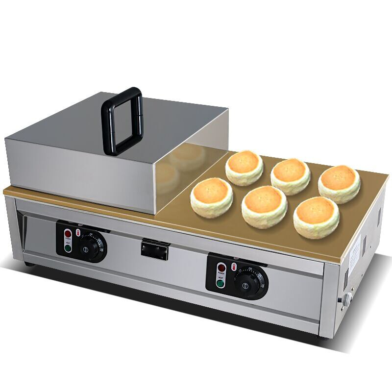 Control de perilla doble cabeza souffle máquina de gofres Fluffy japonés Souffler máquina para hacer panqueques Fluffy Souffle Pancake y receta