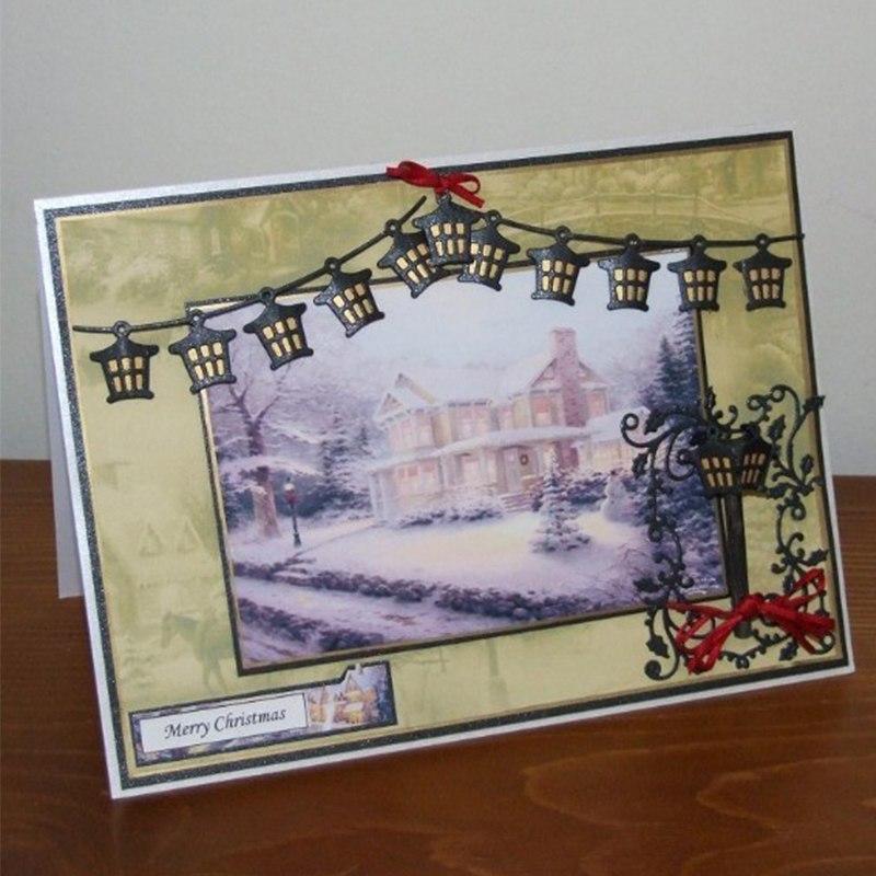A Row of Lanterns Metal Cutting Dies New Stencils for DIY Scrapbooking DIY Paper Cards Craft Making Craft Fun Decoration
