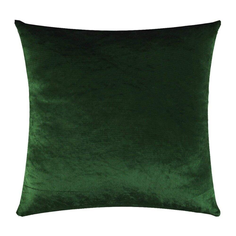 Fundas de cojines decorativas para el hogar para sofás 45x45 Fundas de cojín verde terciopelo para sofás 50x50