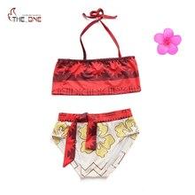Muababy bebê meninas 2 peças moana maiô saia de verão crianças roupa de natação roupa dos miúdos roupa de banho biquíni menina traje de natação