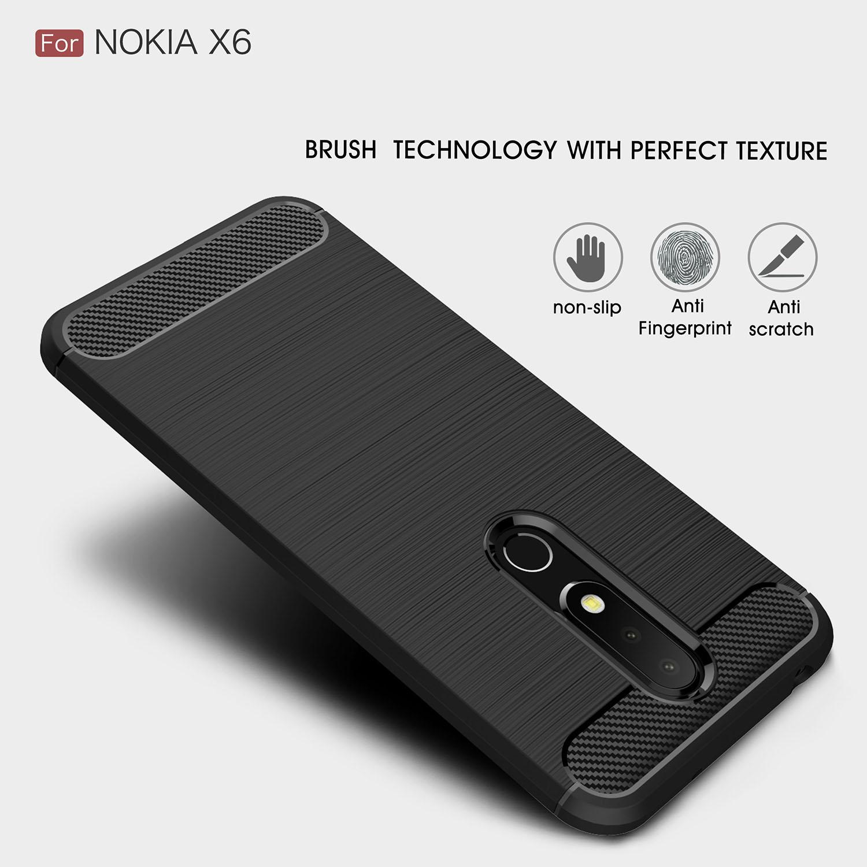 Capinha para nokia 6 6.1 2018 tpu silicone caso ultra-fino capa macia matte sentir caso de telefone para nokia 6.1 plus (para nokia x6)