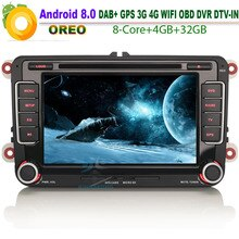 Android 8.0 DAB+ Autoradio Car CD for VW Passat B6 B7  Car Stereo WiFi 4G GPS TPMS DTV-IN NAVI Bluetooth RDS OBD BT USB SD DVR