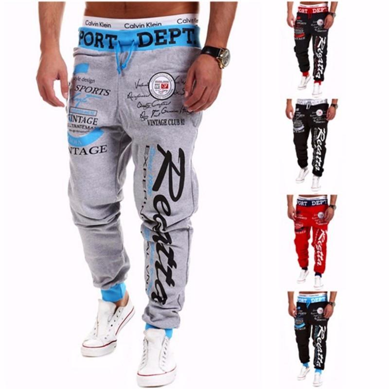 Мешковатые мужские брюки, с принтом в виде букв, шаровары, крутые длинные штаны, одежда для бега, большой размер, M-XXXL, 2019