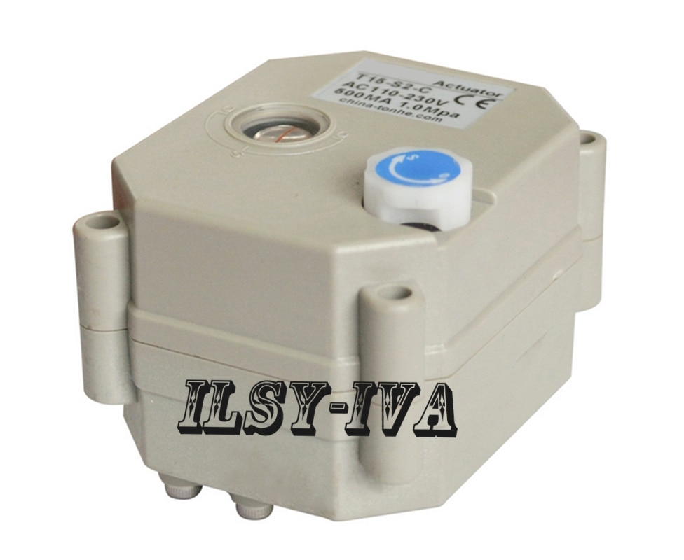 AC/DC 9 ~ 24V электрический привод для клапана с 2 нм сила крутящего момента и тип индикатора, сигнал обратной связи