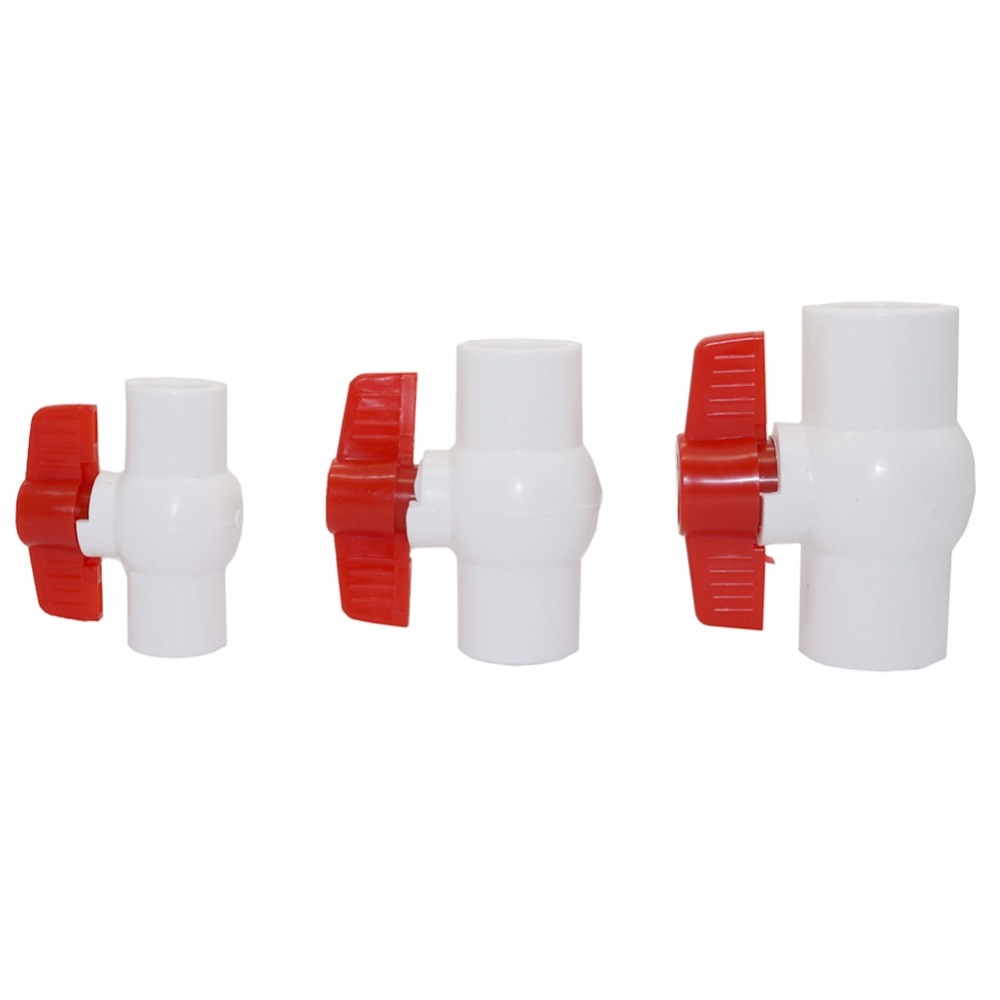 1 unidad, 20mm, 25mm, 32mm, válvula de bola de PVC, conectores de interruptor de parada de agua, sistema de riego agrícola para jardín, hogar, herramientas de sistema
